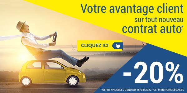 Avantage Client 20% - Nouveau contrat Auto